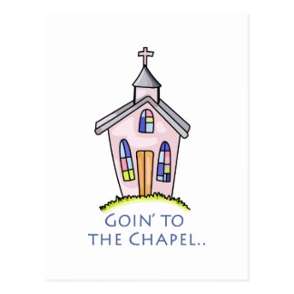 GOIN TO THE CHAPEL POSTCARD