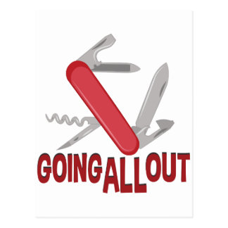 Going All Out Postcard