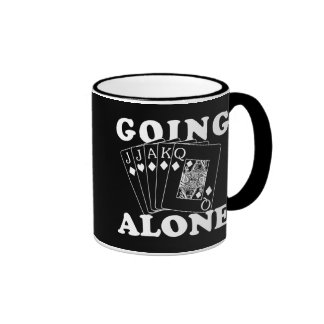 Going Alone Ringer Coffee Mug