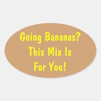 Going Bananas? Banana Bread Jar Label Oval Sticker