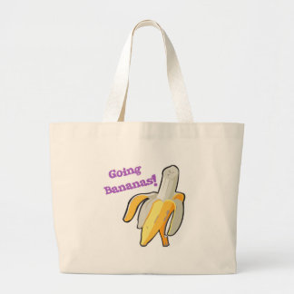 going bananas! banana large tote bag