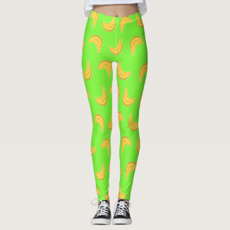 Going Bananas in Green Leggings