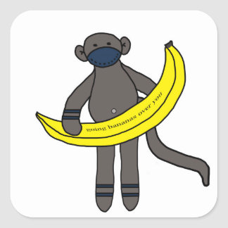 Going Bananas over you. Square Sticker