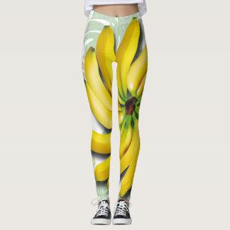 Going Bananas Ripe Banana Leaves Bunch Leggings