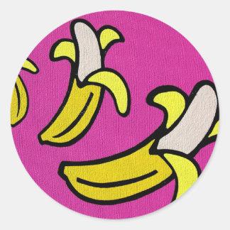 """""""Going Bananas"""" Round Sticker"""