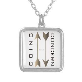 """""""Going Concern"""" Silver Plated Necklace"""