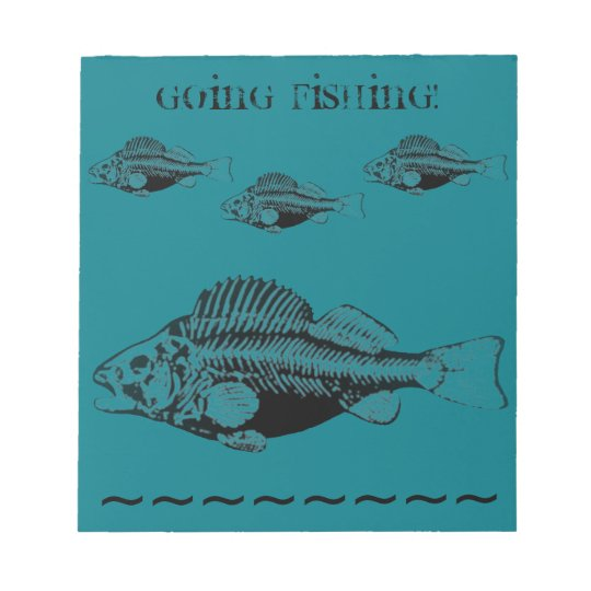 Going Fishing Notepad