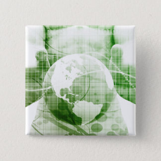 Going Forward with Business Success and Growth 2 Inch Square Button