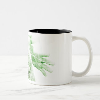 Going Forward with Business Success and Growth Two-Tone Coffee Mug