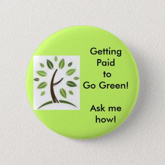 Going Green! 2 Inch Round Button