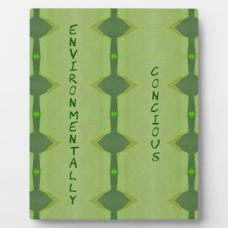 Going Green Environmentally Conscience Plaque