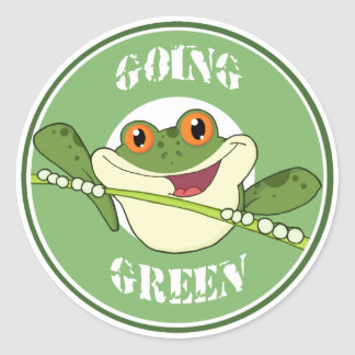 Going Green Frog Stickers