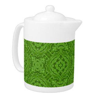 Going Green  Kaleidoscope Colorful Teapots