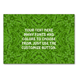 Going Green Kaleidoscope    Tablecards Table Cards
