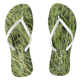 Going green Nature Balance Grass Flip Flops