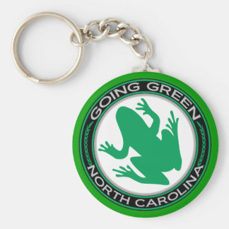 Going Green North Carolina Frog Basic Round Button Keychain