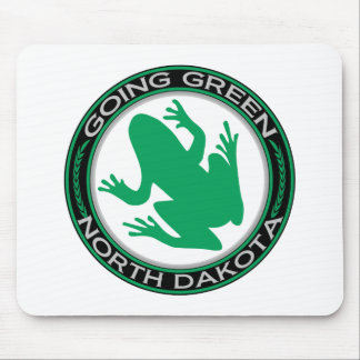 Going Green North Dakota Frog Mouse Pad