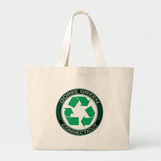 Going Green Recycle Connecticut Jumbo Tote Bag
