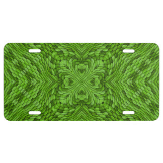 Going Green  Vintage Kaleidoscope License Plate