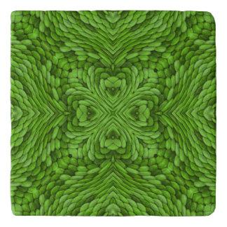 Going Green  Vintage Kaleidoscope  Trivet