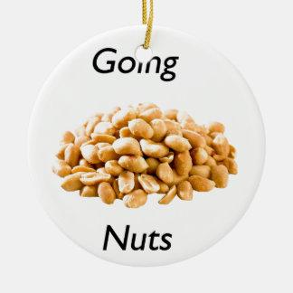 Going nuts round ceramic ornament