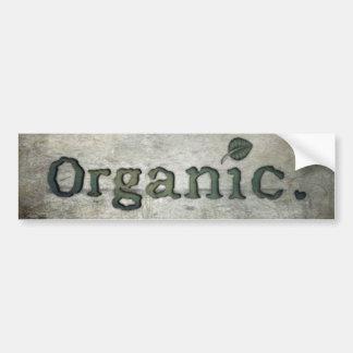 going organic for health bumper sticker