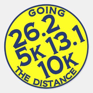 Going the Distance Round Sticker