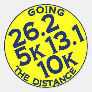 Going the Distances Round Sticker