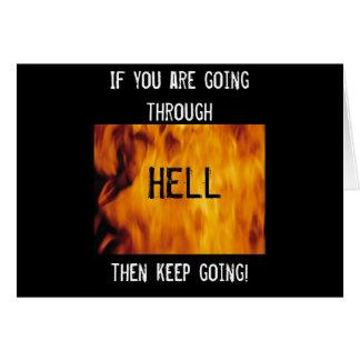 Going thru hell card