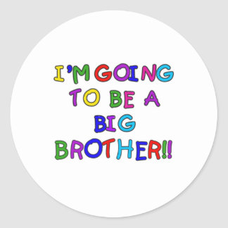 Going to be a Big Brother Round Sticker