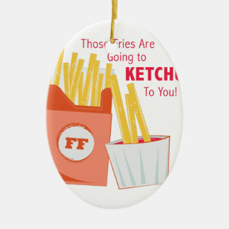 Going To Ketchup Ceramic Oval Ornament