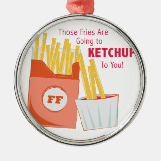 Going To Ketchup Silver-Colored Round Ornament