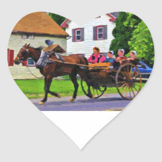 Going to Market Heart Sticker