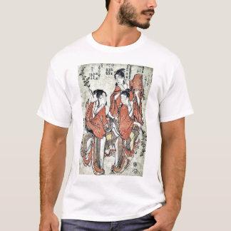 Going to see a sumo match by Katsushika,Hokusai T-Shirt
