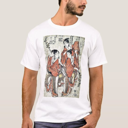 Going to see a sumo match by Katsushika,Hokusai T-Shirt