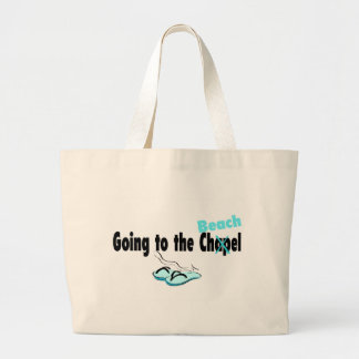 Going To The Chapel Beach Large Tote Bag
