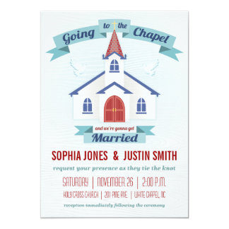 Going to the Chapel Wedding Invitation
