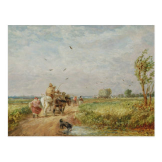 Going to the Hayfield, 1853 (oil on millboard) Postcard