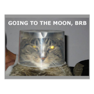 Going to the moon, BRB Postcard
