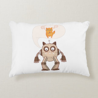 Going To Try Science Funny Robot Cat Decorative Pillow