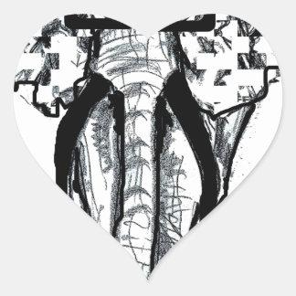 going undercover heart sticker