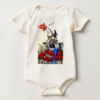 Going up to the capital! Worldwide master English Baby Bodysuit