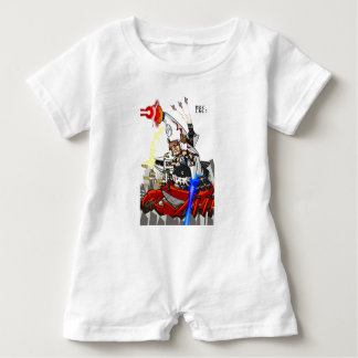 Going up to the capital! Worldwide master English Baby Romper