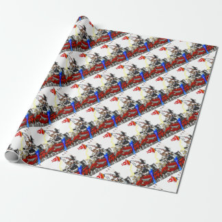 Going up to the capital! Worldwide master English Wrapping Paper