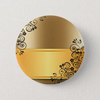 gold #12 2 inch round button