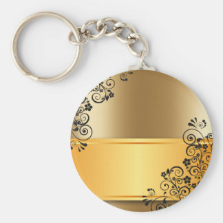 gold #12 keychain