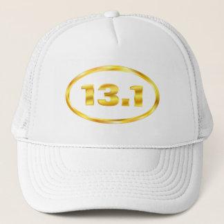 Gold 13.1 Half Marathon Oval Trucker Hat