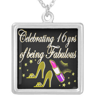 GOLD 16 & FABULOUS DIVA DESIGN SILVER PLATED NECKLACE