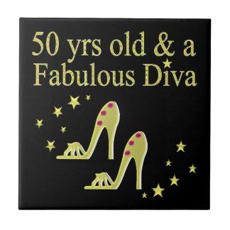 GOLD 50 & FABULOUS DIVA DESIGN TILE