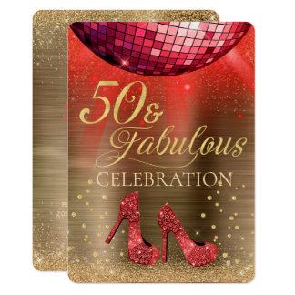 Gold 50 & Fabulous Invitation